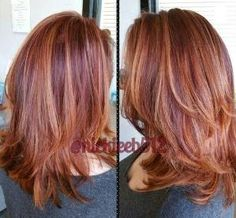 plum auburn hair with copper highlights by lee.c.miller.9