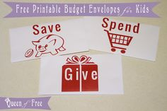 Cute FREE Printable Budget Envelopes for Kids PLUS Great Ways to Teach Your Kids About Money