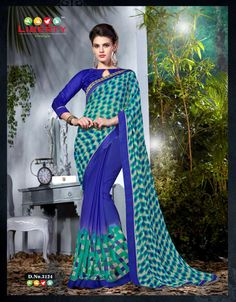 Classy Multi and #Blue #Printed #Wholesale #Saree #Wholesaler collection in india. Elegance And Honourable Come Together In This Beautiful Drape. Make An Adorable Statement In This Smashy Multi and Blue Saree. This Attire Is Showing Some Really Mesmerizing And Innovative Patterns #Embroidered With Block #Print Work. Contact us @ Whats app +91 8488087568 http://goo.gl/wa0suL
