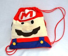 Shopper Bag, Tote Bag, Video Game Crafts, Kids Purse, Mario Party, String Bag, Felt Toys, Kids Bags, Super Mario Bros