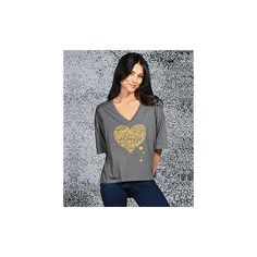 Girl 2 Girl Heart Tee | Threads for Thought Official Store ($28) via Polyvore