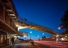 Pedestrian Bridge over A40