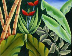 """Vegetación selvática"" 100 x 81 cm óleo"