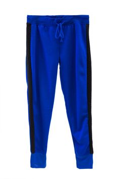 Plus Size Quilted Contrast Fleece Lined Joggers
