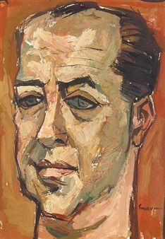 Portrait of a Man By Oswaldo Guayasamín
