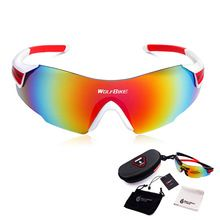 WOLFBIKE Cycling Eyewear Outdoor Sport Brand Sunglasses Men Women UV Protective Goggles Light Weight Sport Glasses