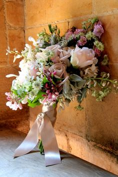 hand gathered bridal bouquet