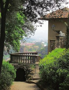 Balcony View of Florence, Italy from Bardini Gardens, Pitti Palace