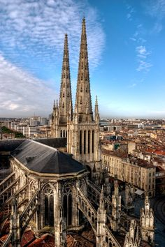 The flying buttresses cathedral in Bordeaux, France Places Around The World, Oh The Places You'll Go, Great Places, Places To Travel, Beautiful Places, Places To Visit, Around The Worlds, Visit France, South Of France