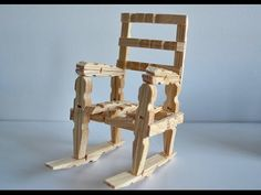 How to Make a Wood Rocking Chair with Clothespins Tutorial - YouTube