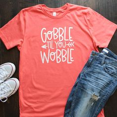 Thanksgiving T Shirt Funny Thanksgiving Tees Thanksgiving outfit Gobble til you wobble orange tu - Fall Shirts - Ideas of Fall Shirts - Funny Thanksgiving Shirts, Thanksgiving Outfit, Thanksgiving Photos, Thanksgiving 2017, Gobble Til You Wobble, Autumn T Shirts, Screen Printing Shirts, T Shirt World, Vinyl Shirts