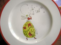 Gaelle Boissonard Molle, Engraved Plates, Creation Deco, Painted Plates, China Plates, Posca, China Painting, Sharpie, Painting Inspiration