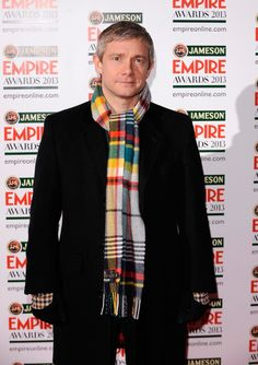 The Hobbit himself, Martin Freeman, at the Jameson Empire Awards 2013. There's that fabulous scarf again.