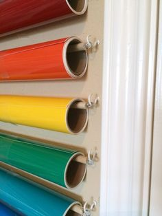 Craft Room Group: Wall-mounted Vinyl Storage