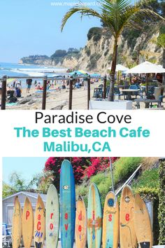 Paradise Cove is one of the most scenic beaches in Southern CA.  Malibu is home to the Paradise Cove Beach Cafe. Enjoy a mouth watering breakfast with a dreamy view of the Pacific Ocean.