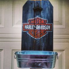 Harley Davidson Bottle Opener Plaque | I Love Harley Bikes