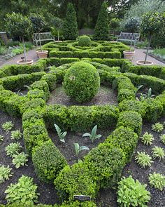 Herb garden, at the New York Botanical Garden