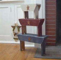 Primitive Wood Crafts----Frances you need to teach me how to make this stuff!!!  :)