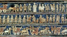 Standard of Ur comes from the ancient city of Ur (located in modern-day Iraq south of Baghdad), 2600 BC