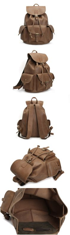 Leather Backpack / College Backpack /School Backpack