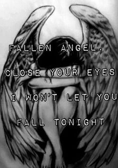 Fallen Angel by Three Days Grace. This song is so pretty Three Days Grace, Emo Bands, Music Bands, Rock Bands, Band Quotes, Music Quotes, Angel And Devil, Sad Angel, Black Veil Brides