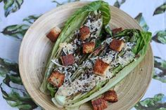 Grilled Caesar Salad with Light Caesar Salad Dressing Recipe - Jeanette's Healthy Living