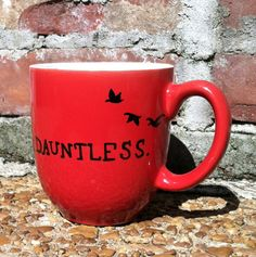 Dauntless Mug  inspired by Divergent by Veronica Roth   MuggleMornings on Etsy https://www.etsy.com/listing/157218026/dauntless-mug-divergent-by-veronica-roth?ref=related-0