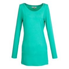 Green SlimFit Round Collar LongSleeves TShirt  http://everyFashion.storenvy.com