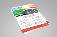 Colourful Mobile App Flyer by graphicstall on @creativemarket