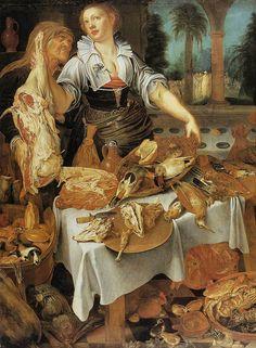 Pieter Cornelisz van Ryck - Küchenbild (1604) -Öl auf Leinwand - 189x288 cm - Herzog Anton-Ulrich-Museum, Braunschweig