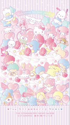 Hello Kitty Iphone Wallpaper, Sanrio Wallpaper, Cute Anime Wallpaper, Little Twin Stars, Little Star, Melody Hello Kitty, Kitty Images, Japanese Characters, Sanrio Characters