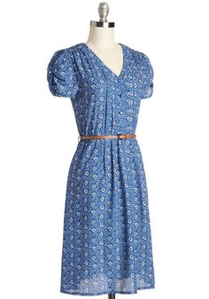 Take to the Wind Dress in Blue Paisley | Mod Retro Vintage Dresses | ModCloth.com