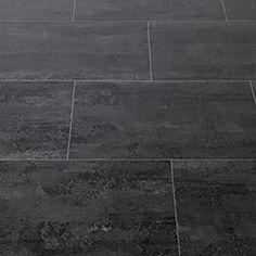Ovio Vinyl Tile - 2mm Peel & Stick Graphite Stone Collection Midnight