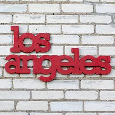 Los Angeles California sign made from upcycled by WilliamDohman, $85.00