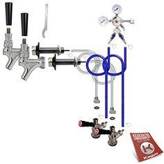 Kegco Standard Two Keg Door Mount Kegerator Beer Tap Conversion Kit