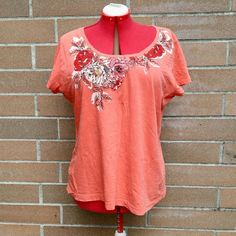 Van Heusen size XXL Orange nwot tee Nwot no defects never worn Van Heusen Tops Tees - Short Sleeve