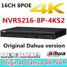 378.00$  Buy now - http://ali68s.worldwells.pw/go.php?t=32783611349 - Free shipping New Dahua 16CH 1U 4K&H.265 1080P NVR support 2HDD 8 poe port Onvif NVR5216-8P-4KS2 up to 12MP resolution