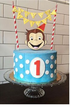 Consider this your party inspiration! Curious George Cakes, Curious George Party, Curious George Birthday, Cool Birthday Cakes, 1st Boy Birthday, First Birthday Parties, Birthday Party Themes, Birthday Ideas, Lincoln Birthday
