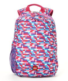 Look at this LEGO Pink & Purple Brick Heritage Backpack on #zulily today!