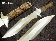 """RaB Cutlery Custom Made Fixed Blade 1030"""" x 15/64"""" Thick Stainless Steel Knife #RaB"""