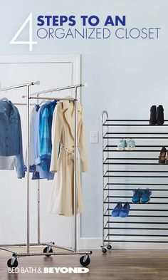 ALL SEASONS CLOSET ORGANIZATION If you're tired of reorganizing your closet each time a new season rolls around, then this is for you. Use these helpful organization products that'll keep your closet organized year-round - no giant storage tubs or attic Storage Tubs, Closet Storage, Closet Organization, Kitchen Organization, Classroom Organization, Bed In Closet, Closet Bedroom, Master Bedroom, My New Room