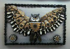 Owl Handpainted Stones Pebble Art Stone Art por StefArtStone