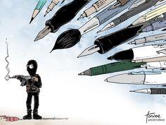 by Rob Tornoe political cartoon comic Charlie Hebdo Paris terrorist attack satire response. Satire, Pray For Paris, The New Yorker, Anne Sinclair, Georges Wolinski, World Pay, Religion, Charlie Hebdo, Charlie Charlie