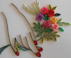quilling rose bouquet
