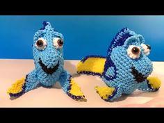 3D Dory Part 1 Loomigurumi Amigurumi Rainbow Loom Band Crochet Hook Only Finding Nemo Fish - YouTube