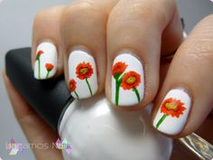 Matte Nail Art flowers #nailart #flowers #mattetopcoat #hagamosnails