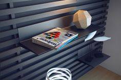 Shelves can easily be slid, moved, and removed to accommodate different objects.