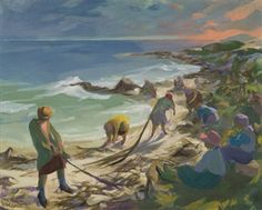 Gathering Seaweed By Marjorie Wallace South African Artists, Paintings I Love, Coastal, Museum, Seaweed, Gallery, Followers, Boats, Artwork