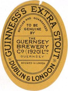 Guiness's Extra Stout. 1920.