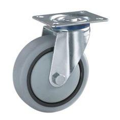 Superb Ruedas de los carritos de goma Materiales de las ruedas n cleo de PP con la